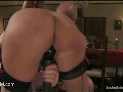 a lovesome sex slave serves her sweet body as a dessert for her master