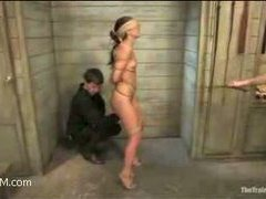 an adorable slave with a perfect body comes to be trained