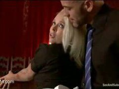 a gorgeous busty blonde maid got fucked
