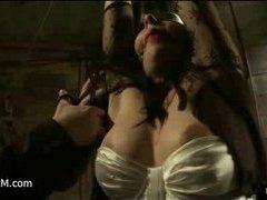 a busty slut experiences tit torture