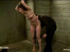 A spoiled whore learns submission and discipline in the slave camp