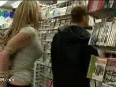 a spoiled whore pleasing strangers in the record store