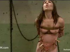 An extreme servitude training of a slim whore