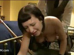 Cherry gets her clamped clit smashed by a wand