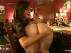 The solemn BDSM orgy in the dinner room