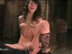 this shy brunette comes to try bondage for the first time
