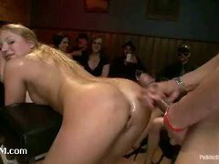 A merry-go-round of cocks for lustful slut