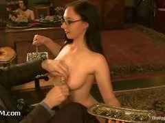 Slaves are preparing for the party and pleasing each other