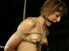 An outstanding bondage predicament for a lusty babe