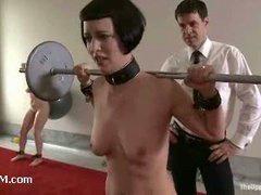A seductive slave slut pleasing her horny master