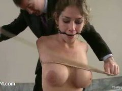 A seductive slave slut pleasing her horny master