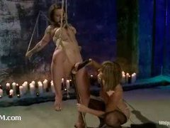 An incredibly hot lesbian bondage humiliation