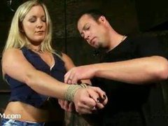 A proper bondage domination of a tough slut