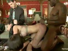 An asian slave trainee taken to the Upper Floor for evaluation