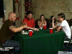 A guy loses his girlfriend to a kinky goon in poker