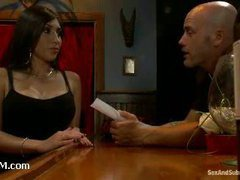 A lustful latina waitress sexually abused by her boss