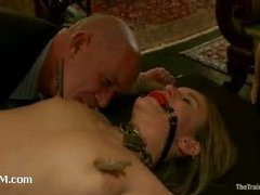 Lustful girl making her way from a trainee to a house slave