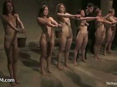 Six hot girls pushed to the limit on slave auditions