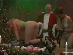 evil santa comes to these horny twins