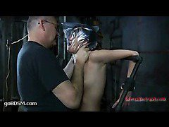 Lustful brunette gets her holes crammed full of rubber cocks