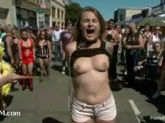 A hot bondage whore fucked at Folsom Street Fair