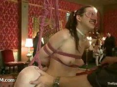 An insanely sexy BDSM orgy in the luxurious castle