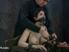 A crazy bondage whore begging to be double teamed