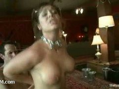 A curvaceous slut gets acquainted with the Master's cock