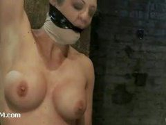 A fit blonde slut suffering mightily in intense SM action