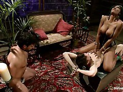 Two bitch boys worshipping incredible ass of their ebony mistress