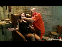 A hot dominatrix driven into sub space by rough fucking