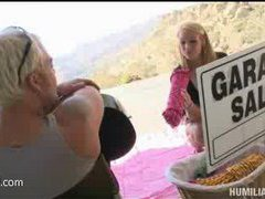 a hot mommy gets horny at the garage sale