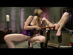 A passionate blonde devours in intense lesbian domination