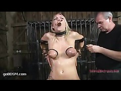 A bound girlie drools with saliva, tears and pussy juice