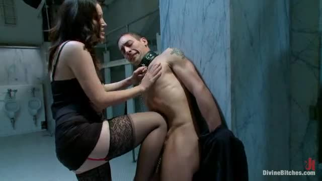 Dominatrix sucks cock