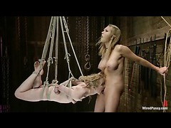 A lovesome blonde gets her ass crammed with electrical toys