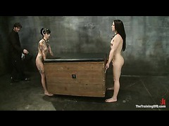 Two hot sluts suffering mightily than ever in the final training day