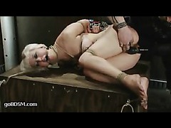 Cherry Torn gets her limber body colored with stripes and bruises