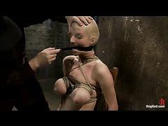 Matt Williams performs bondage tutorials on a busty teen slut