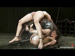 Cherry Torn and Ariel X get trapped and tortured in the dome