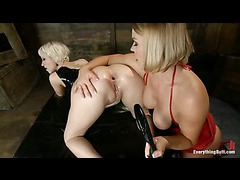 Two lustful blondes get their sexy butts drilled and stretched by Mark Davis