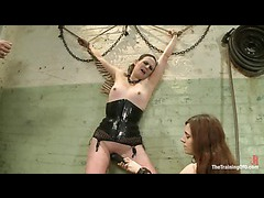 A raunchy domme is sent to the training to face all her fears