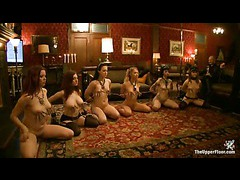 Six slave girls are welcomed to the Castle and exploited right away