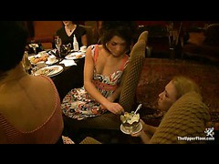Sadistic ladies get amused and entertained by sexy slave girls