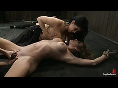 Rain DeGrey and Felony squirting hard from never ending orgasms