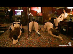 Submissive sluts exploited by the members of a BDSM community