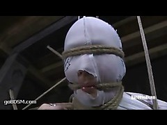 A pretty babe tortured with electricity in extreme bondage