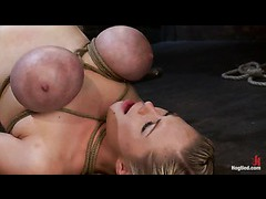 Two tempting blondes sexually destroyed in a cruel suspension