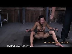 A lustful pain slut violated and covered with hot wax