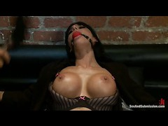 A cheating slut got her delicious ass shafted in tight bondage
